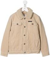 Corduroy Shearling Logo Jacket