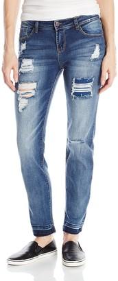 Kensie Jeans Women's Straight Leg with Release Hem Jean