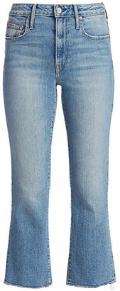 TRAVE Colette High-Rise Kick-Flare Cropped Jeans