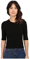 Thumbnail for your product : Michael Stars 2X1 Rib Elbow Sleeve Crop