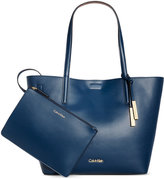 Calvin Klein Leather Reversible Tote with Pouch