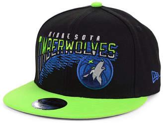 New Era Big Boys Minnesota Timberwolves Whammy 2.0 9FIFTY Snapback Cap