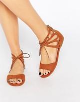 Carvela Bali Ankle Tie Flat Sandals