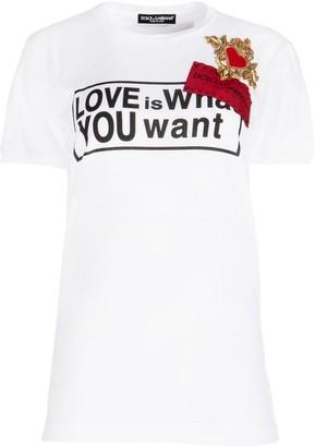 Dolce & Gabbana Graphic Print Crewneck T-Shirt