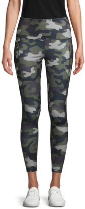 Reebok Camo-Print Stretch Leggings