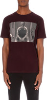 The Kooples Skull-print cotton-jersey t-shirt