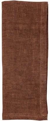 Indigo Washed Linen Napkins Chard Set of 4