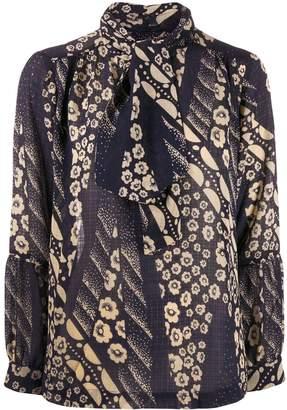 BA&SH floral tie blouse