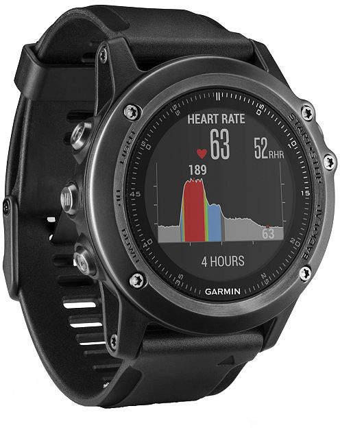 Garmin Fenix 3 Unisex Black Smart Watch-0100133870