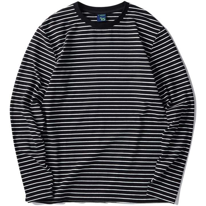 57a11462ef1621 Striped Long-sleeved T-shirt For Men Blue And White - ShopStyle Canada