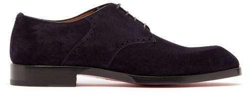 bas prix b4a04 73935 A Mon Homme Suede Derby Shoes - Mens - Navy