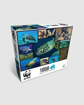 WWF - Blue Puzzles - 1000 Piece Puzzle - Sea Turtles - Size One Size at The Iconic