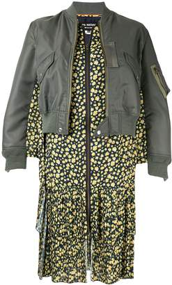 Junya Watanabe contrast long-line bomber jacket