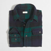 J.Crew Factory Boys' elbow-patch flannel workshirt