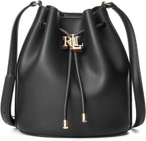Ralph Lauren Leather Medium Andie Drawstring Bag