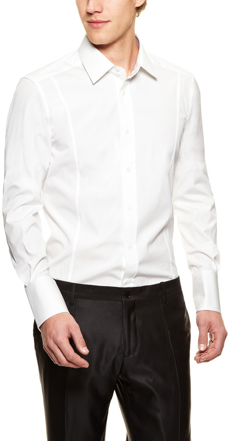 Gucci Fitted Solid Dress Shirt
