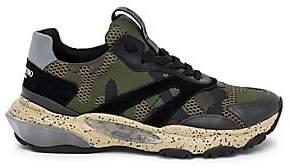 Valentino Men's Garavani Bounce Camouflage Low-Top Sneakers