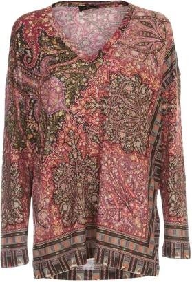 Etro V Neck Sweater Barb Sweater