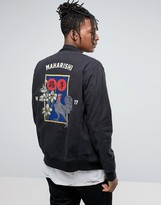 Maharishi Souvenir Jacket In Black With Embroidery