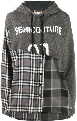 Semi-Couture Reconstructed Hooded Sweatshirt