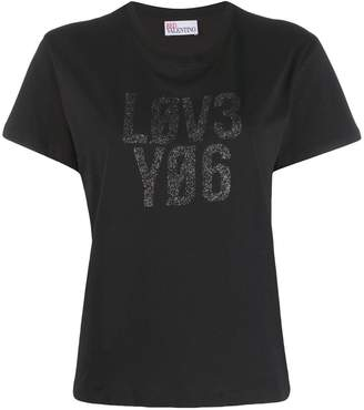 RED Valentino Love You glitter print T-shirt