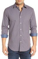 Bugatchi Men's Bugtachi Shaped Fit Check Sport Shirt