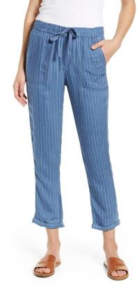 Caslon Stripe Drawcord Pants