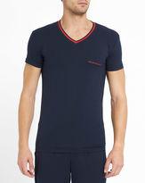 Emporio Armani Navy Armani Logo V-Neck T-Shirt