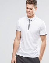 BOSS ORANGE Polo Shirt With Contrast Placket In White