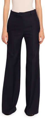 Victoria Beckham Wool High-Rise Wide Leg Pants