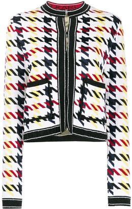 Karl Lagerfeld Paris Houndstooth Print Cardigan