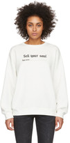 R 13 White Sell Your Soul Sweatshirt
