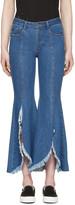 Sjyp Blue Front Cut-off Jeans
