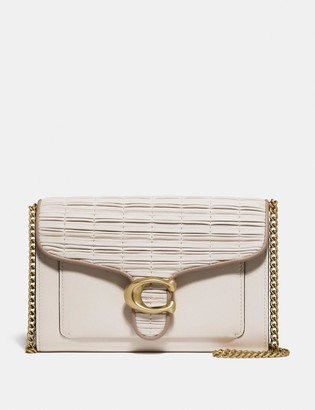 Coach Tabby Chain Clutch With Pleating