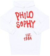 Philosophy di Lorenzo Serafini Logo Print Cotton Blend Sweatshirt Dress