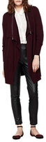 Mint Velvet Zip Neck Cardigan, Bordeaux