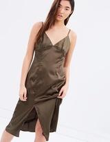 MinkPink Silky Slip Midi Dress