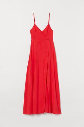 H&M V-neck Maxi Dress - Red
