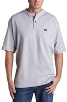 Wrangler RIGGS WORKWEAR Men's Big and Tall Short Sleeve Henley