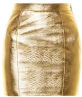 Saint Laurent High-rise leather mini skirt