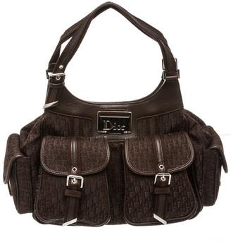 Christian Dior Brown Diorissimo Canvas Street Chic Bag