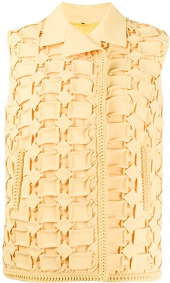 Marco De Vincenzo geometric embroidered vest