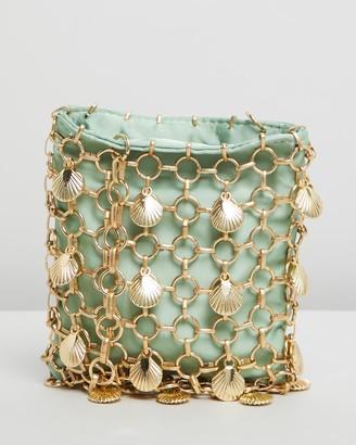 Topshop Shell Mini Cage Bag