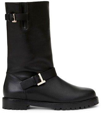 Lafayette 148 New York Jordan Leather Moto Boots