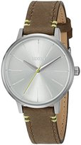 Nixon Women's 'Kensington' Quartz Stainless Steel and Leather Automatic Watch, Color:Brown (Model: A1082290-00)
