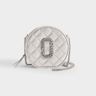 Marc Jacobs Christy Crossbody Bag In Silver Quilted Leather
