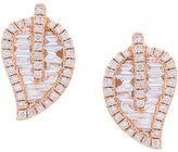 Anita Ko medium leaf stud diamond earrings