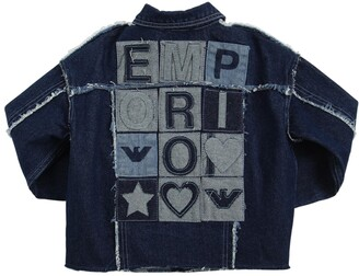 Emporio Armani Cotton Denim Jacket W/ Patch