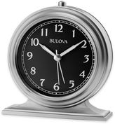 Bulova Benjamin Table Clock in Satin Silver