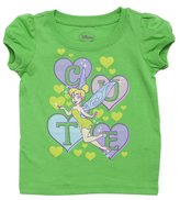 Disney Toddlers Ticker Bell Cute Short-Sleeve T-Shirt